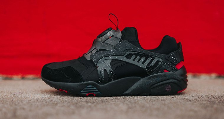 puma disc noir rose