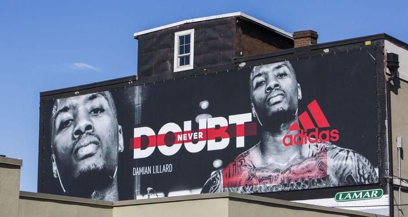 Damian Lillard & adidas Have New Billboards Up in Portland