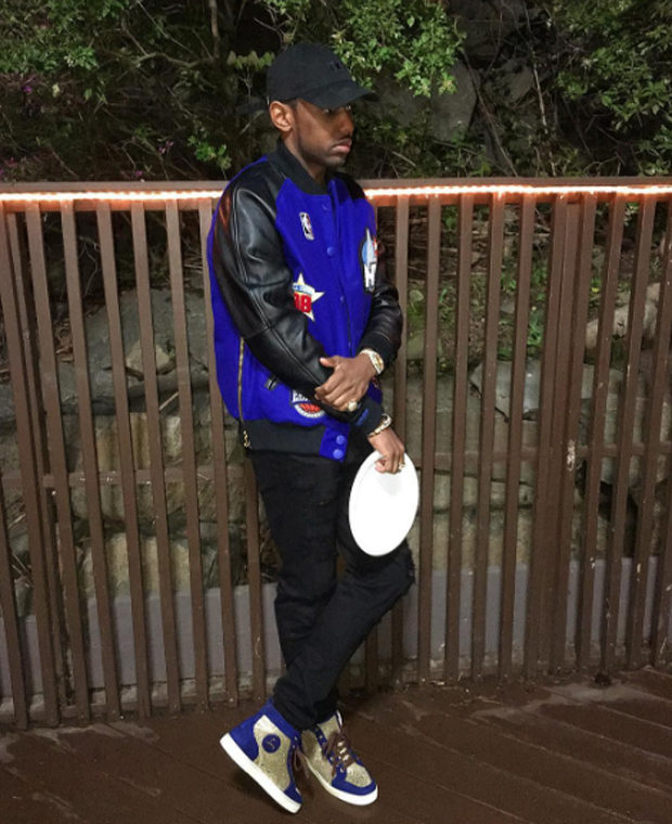 Fabolous in Christian Louboutin sneakers