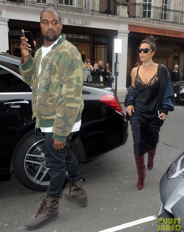 Kanye West in the adidas Yeezy 950
