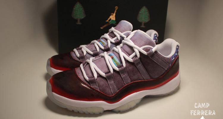 "Air Jordan 11 Low ""Campe Ferrera"" by Rocketboy Nift"