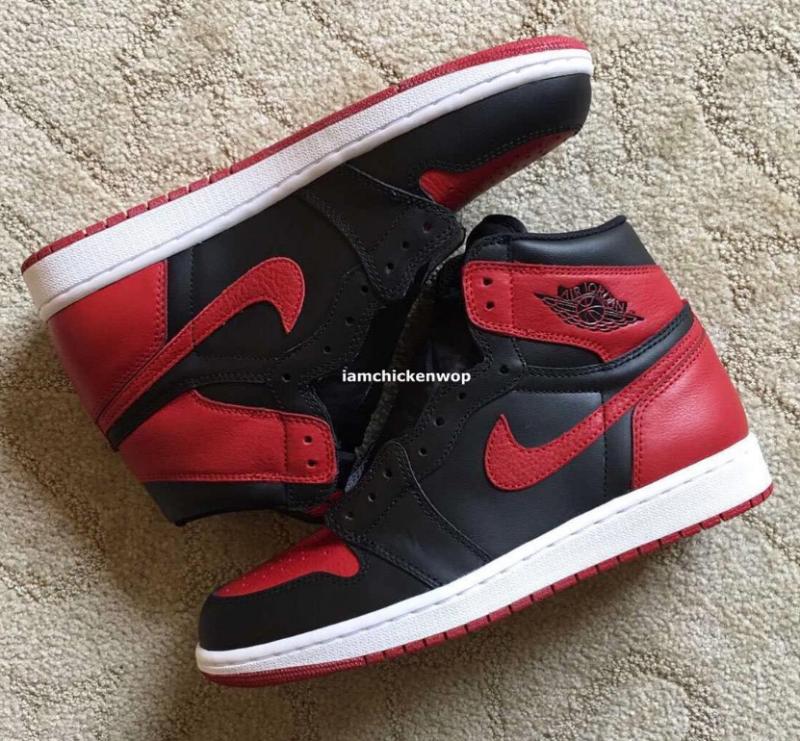 Air Jordan 1 High Black/Red 2016 Retro