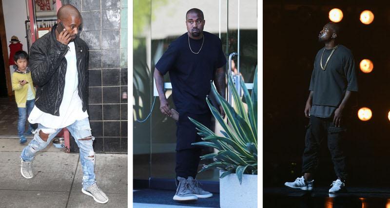 Kanye Wearing Running Shoes