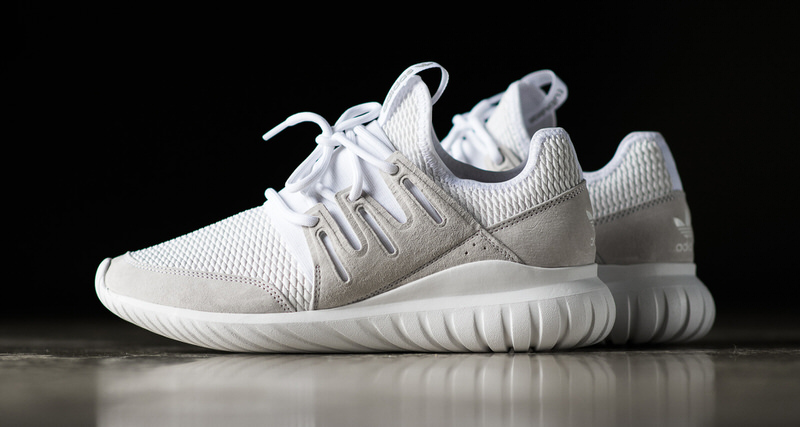 taza emoción locutor  adidas Tubular Radial White/Light Grey // Available Now | Nice Kicks