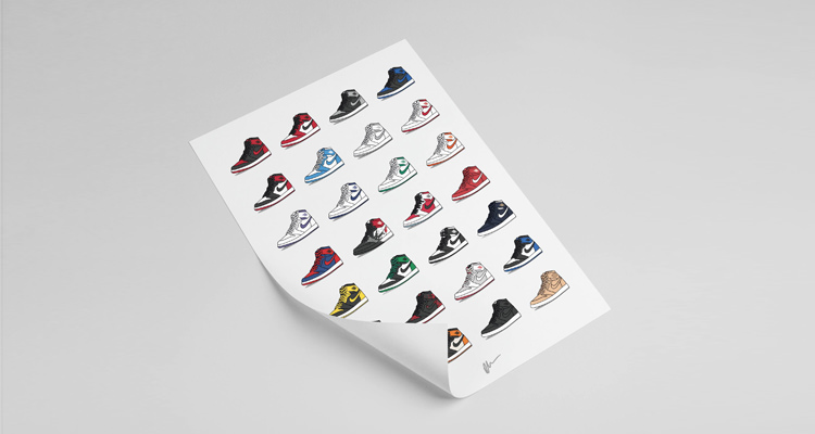 Air Jordan 1 Collection Print by Kick Posters