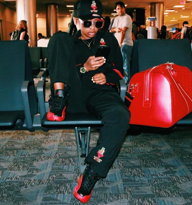 """DeJ Loaf in the Air Jordan 12 """"Flu Game"""""""