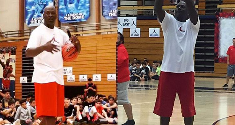 Michael Jordan Debuts All-Red Air Jordan 11 Low at Flight School Camp