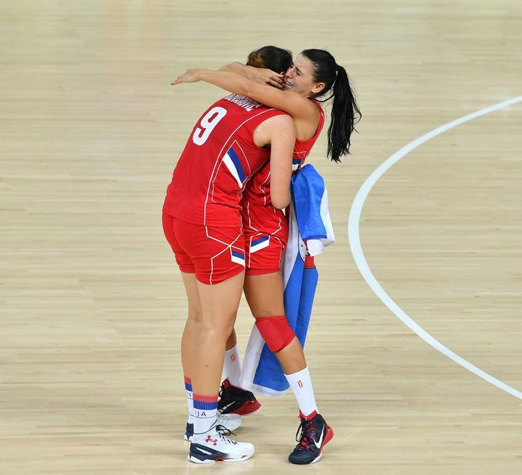 Jelena Milovanovic Sonja Petrovic Basketball+Olympics+Day+11+M-ahluaIsPdx