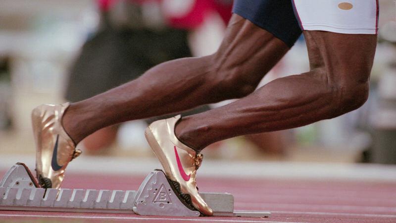 Michael Johnson Nike Gold Olympic Spike 1996 2