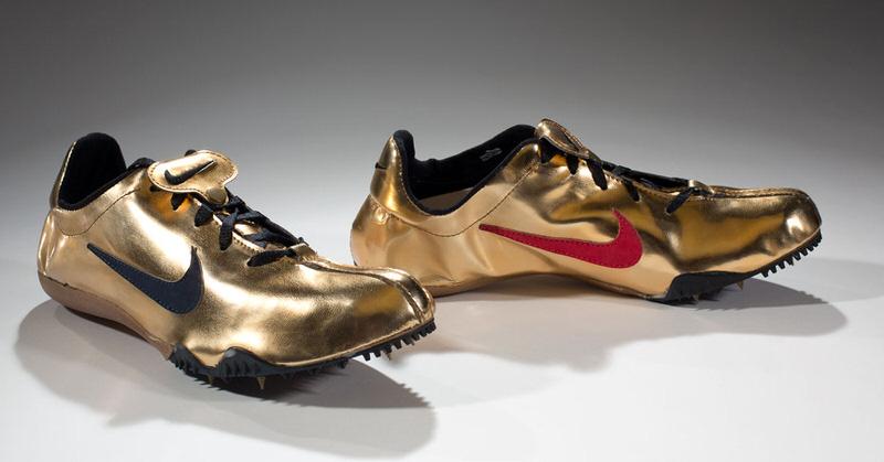 Michael Johnson Nike Gold Olympic Spike 1996 4 B