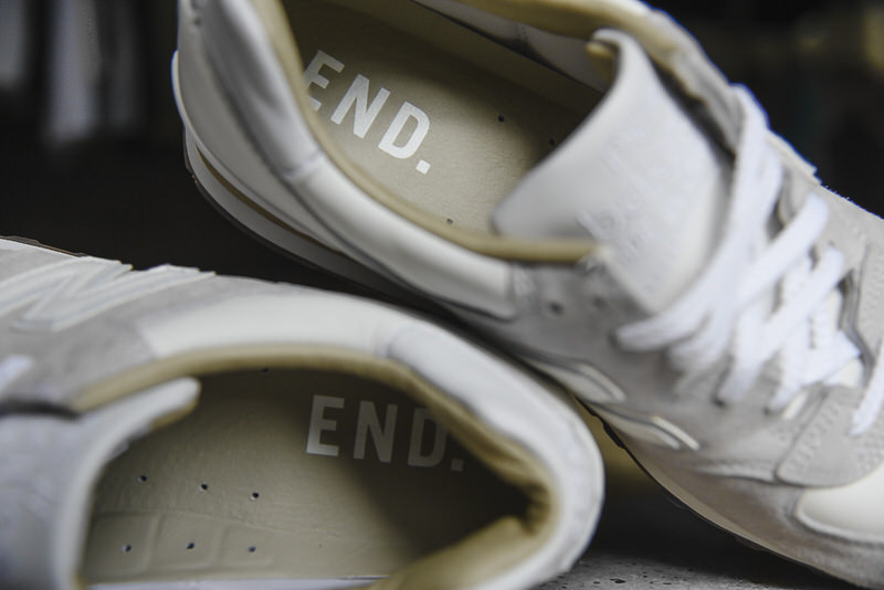 """END. x New Balance M575 """"Marble White"""""""