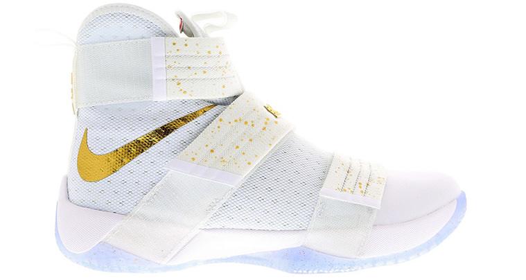 Nike LeBron Solider 10 Gold Swoosh