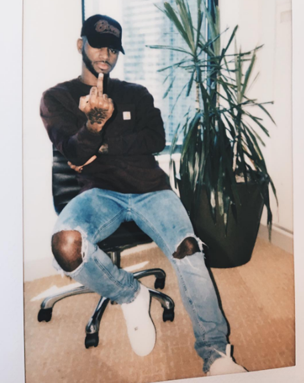 Bryson Tiller in the Nike Air Force 1 Low