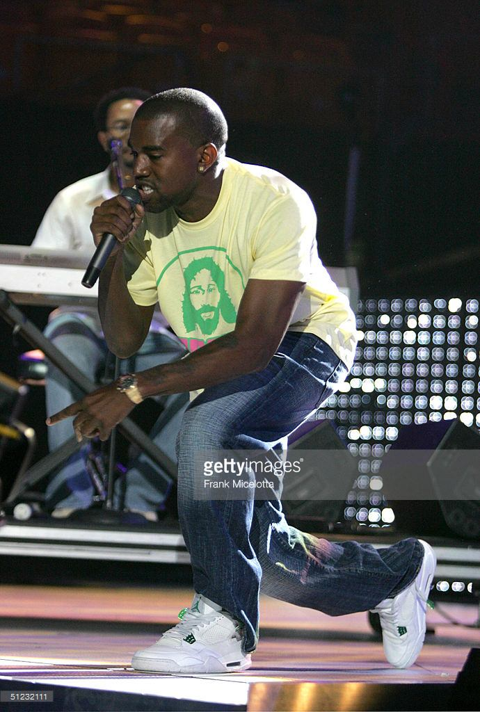 "Kanye West in the Air Jordan 4 ""Classic Green"""