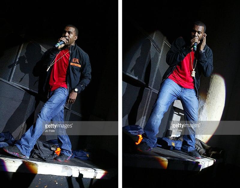 """Kanye West in the Air Jordan 7 """"Raptor"""""""