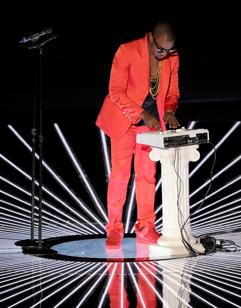 Kanye West in the Louis Vuitton Don Red/Red
