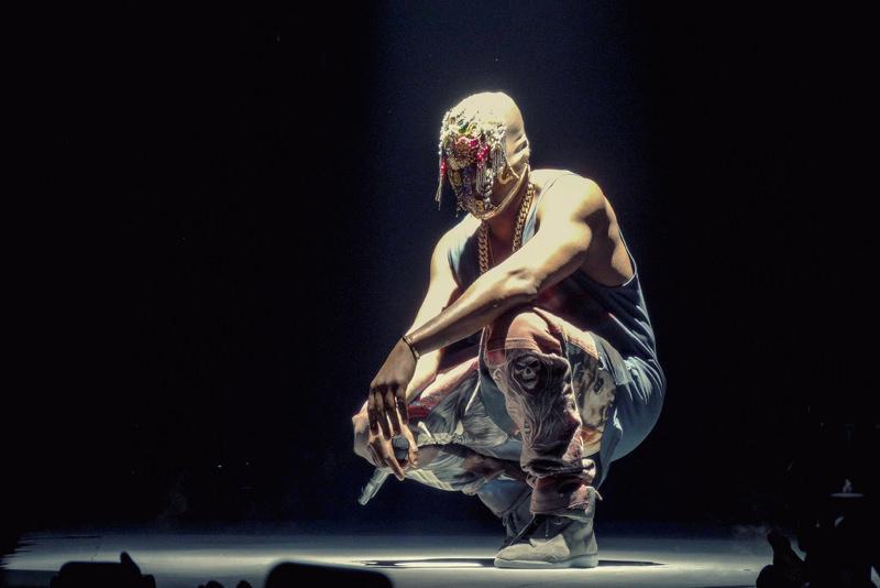 Kanye West in the Maison Martin Margiela Future