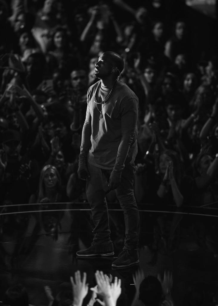 Kanye West in the Visvim FBT Shaman-Folk