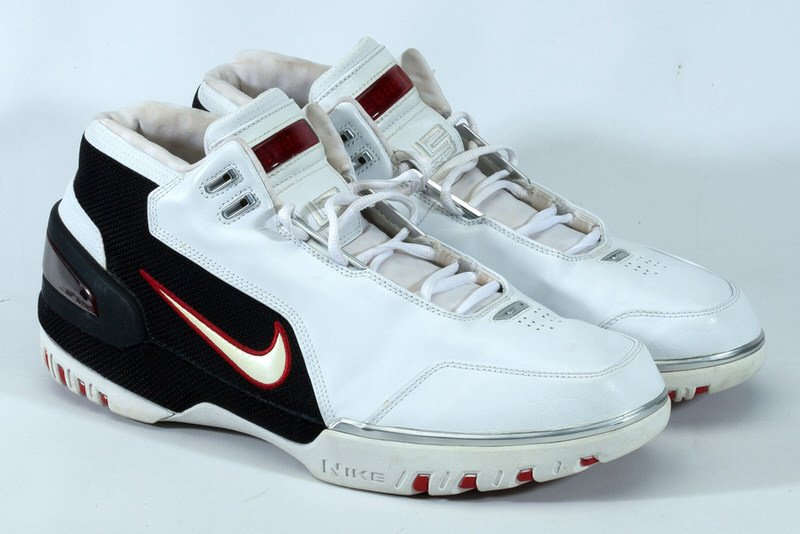 A Signed Pair of LeBron James' Rookie