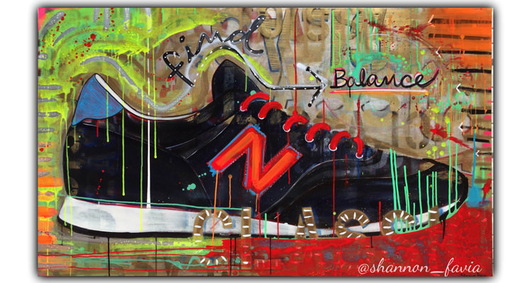 New Balance 574 Painting by Shannon Favia