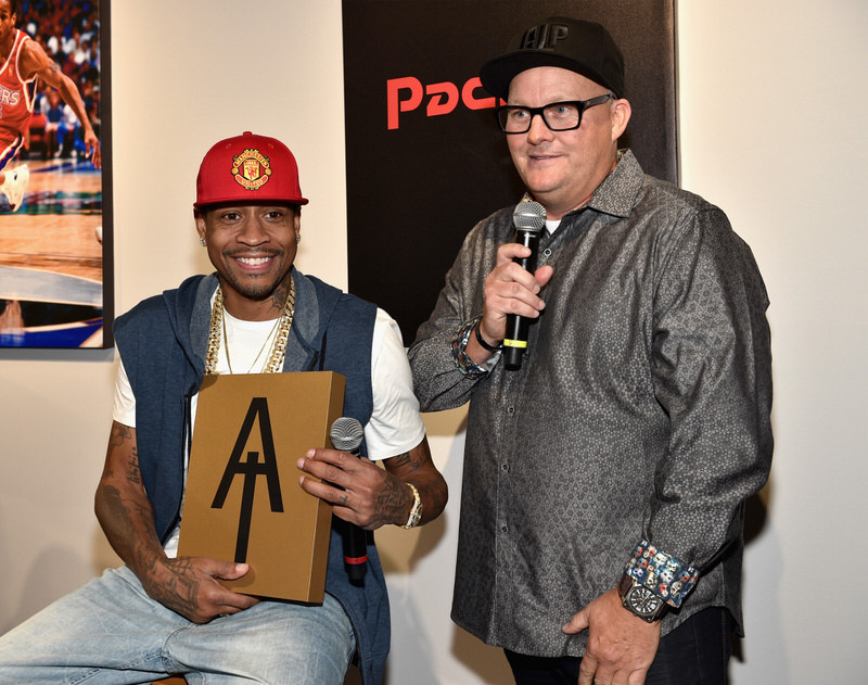 NEW YORK, NY - SEPTEMBER 15: Allen Iverson and Gary Land attend the Reebok X Packer Shoes launch party to celebrate Allen Iverson at Reebok FitHub Union Square on September 15, 2016 in New York City. (Photo by Bryan Bedder/Getty Images for Reebok)