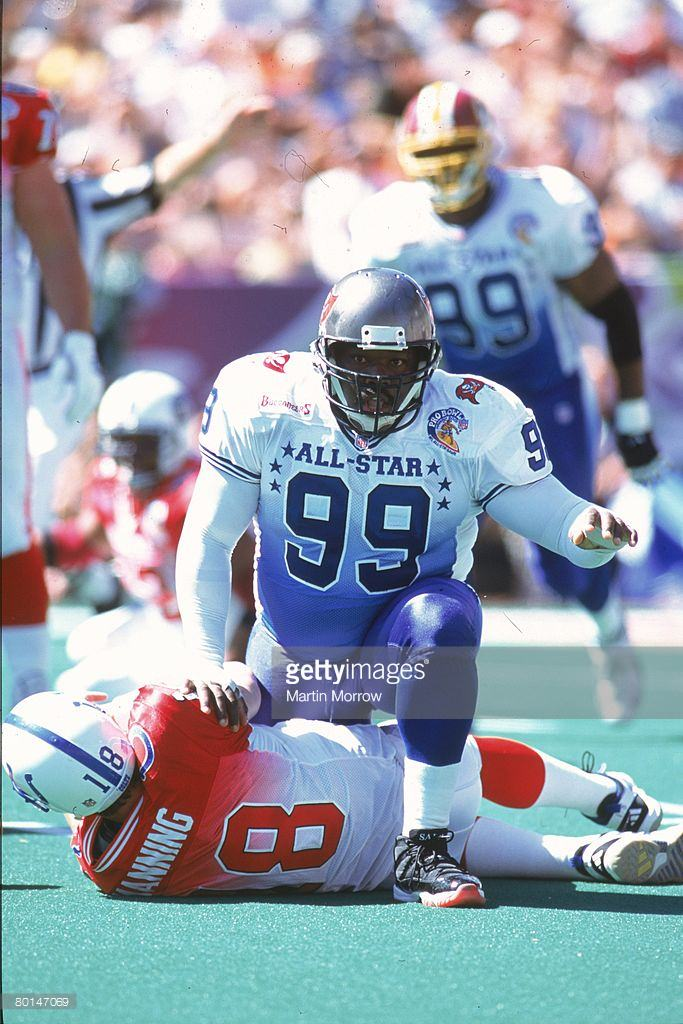 Warren Sapp in his Air Jordan 11 Turf PE