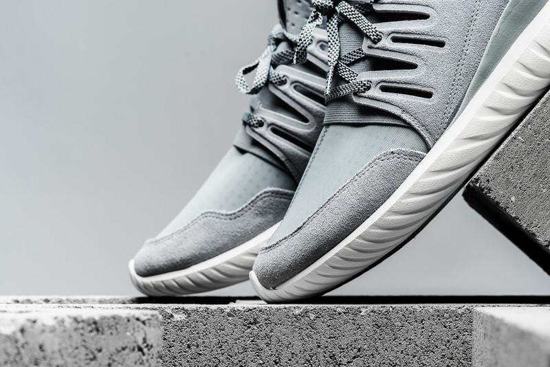 Adidas Tubular Radial Grey And White