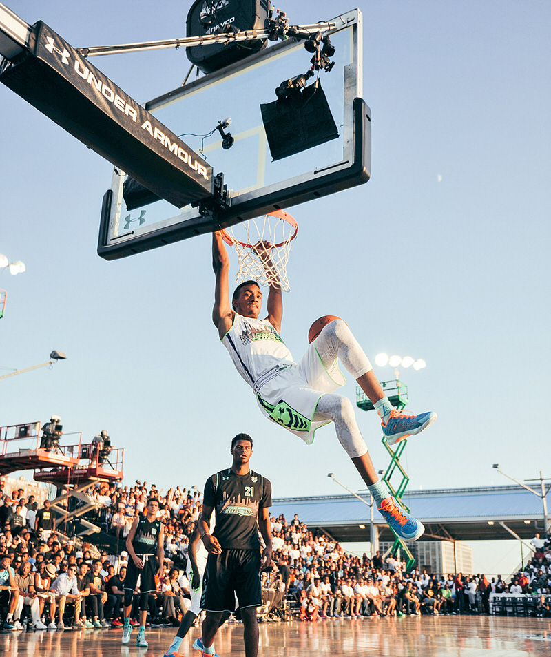 NEW YORK CITY - August 22, 2015: Under Armour Elite 24 game at Pier 2 in Brooklyn New York. (Photo by Joe Martinez/Under Armour)