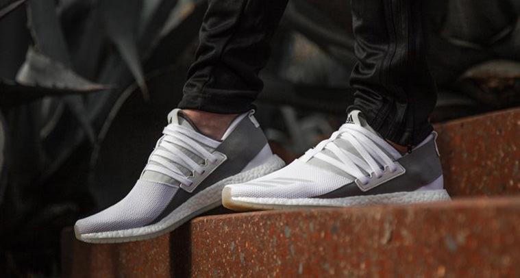 adidas pure boost r white grey nice kicks. Black Bedroom Furniture Sets. Home Design Ideas