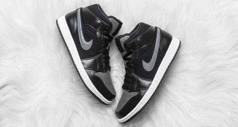 Air Jordan 1 Mid Premium Wool Black Available Now chic - kaneusa.org 3fd83bdd3