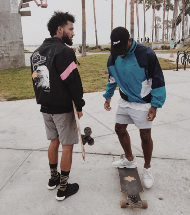 Bryson Tiller in the Pink Dolphin x PUMA Blaze of Glory