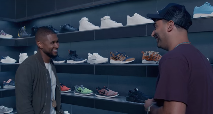 Joe La Puma Goes Sneaker Shopping with Usher
