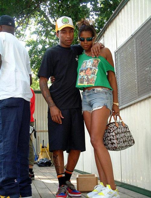 "Pharrell in the Nike Dunk Low ""Viotech"""