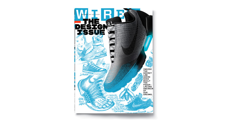Power-Lacing Nike HyperAdapt Covers WIRED Magazine