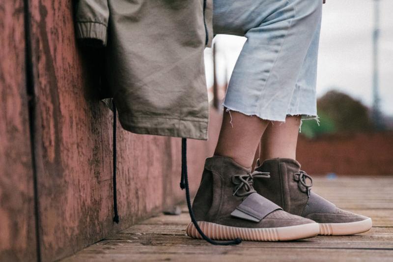 adidas Yeezy 750 Boost Light Brown On Foot Feet
