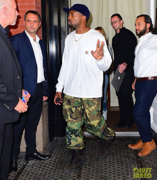 Kanye West in Yeezy Season Boots