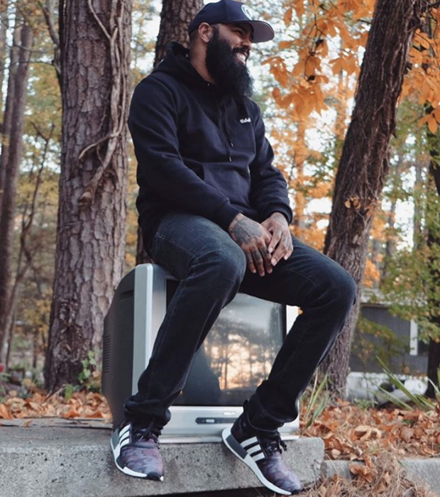 Stalley in the BAPE x adidas NMD