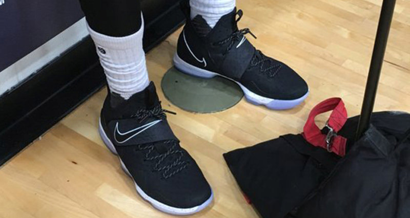 black and white lebron james shoes