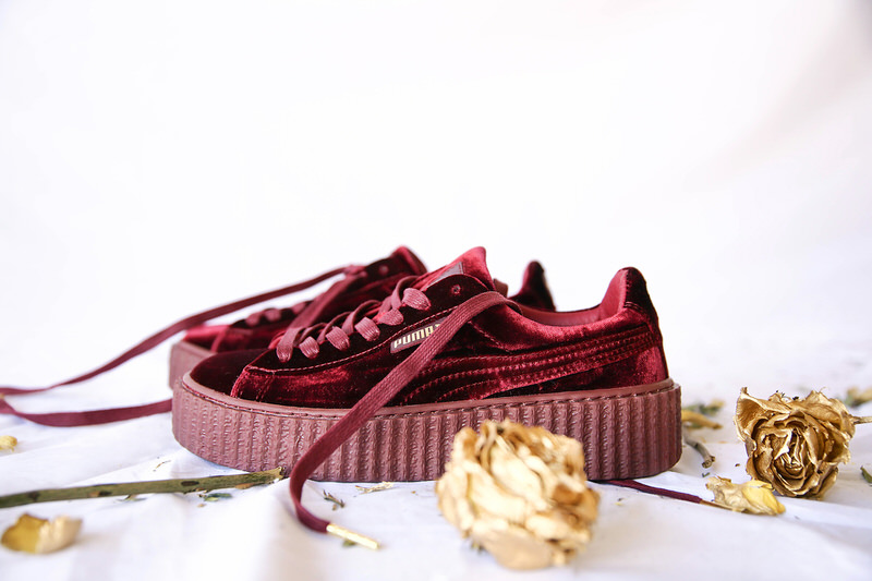 factory price 4f923 45bfd fenty creepers red velvet