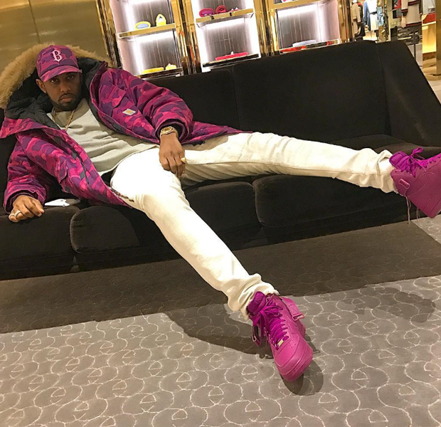 "Fabolous in the WMNS Nike Air Force 1 High ""Color Pack"" Purple"