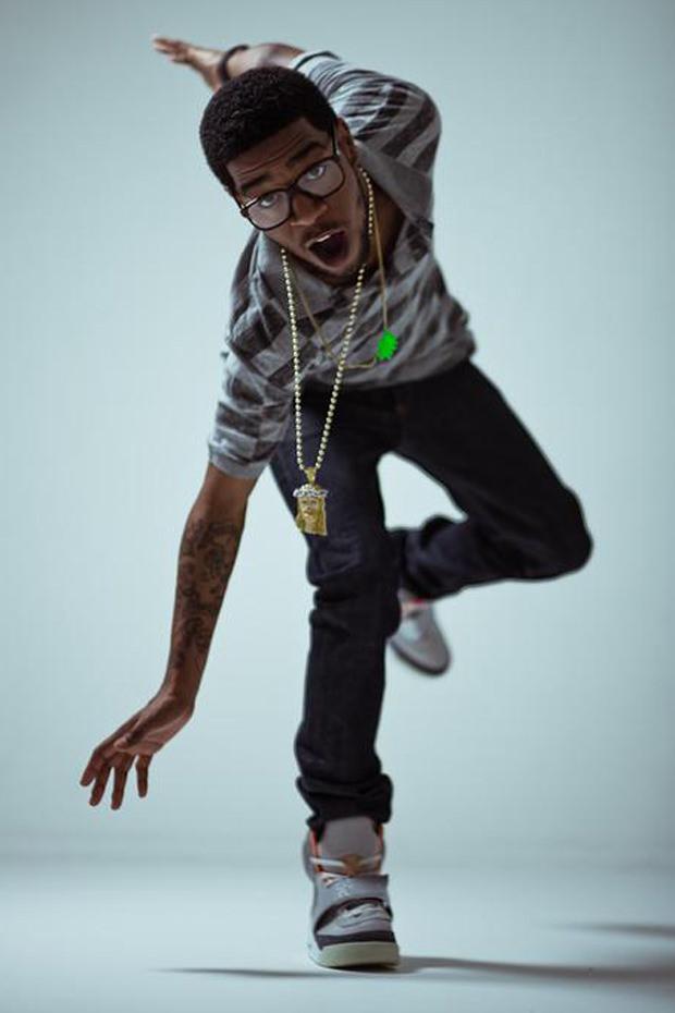 "Kid Cudi in the Nike Air Yeezy 1 ""Zen Grey"""