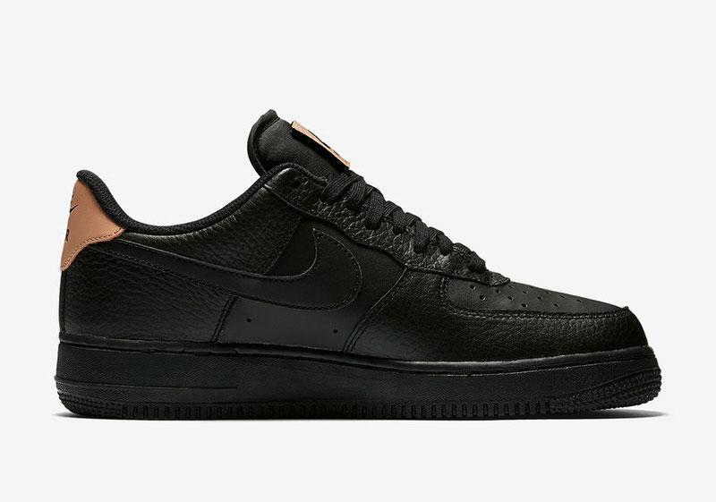 black and tan air force ones