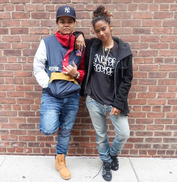 Vashtie in the Nike Air More Uptempo