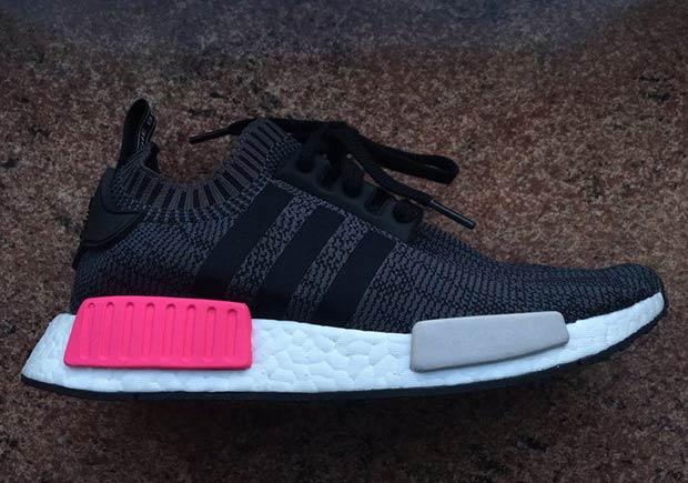 Adidas Nmd R1 Primeknit Black Pink First Look Nice Kicks