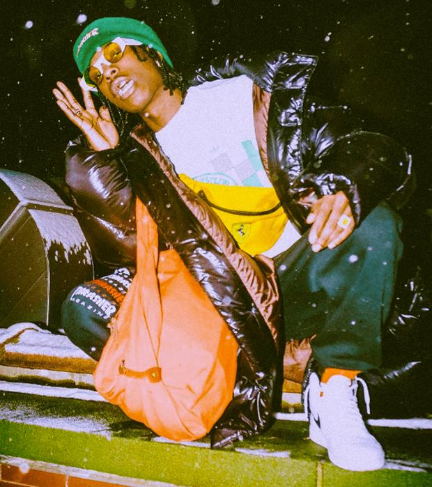 """A$AP Rocky in the Air Jordan 1 """"Yin Yang"""""""