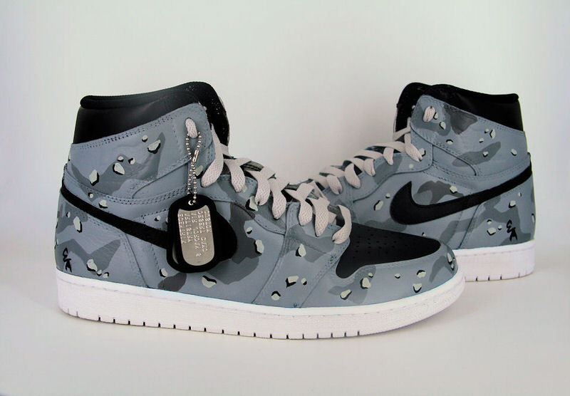 "Air Jordan 1 ""Grey Desert Camo"" Custom by Ecentrik Artistry"