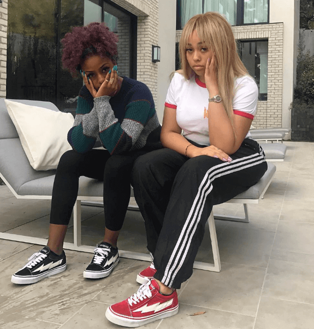 Justine Skye & Jordyn Woods in the Revenge x Storm sneakers