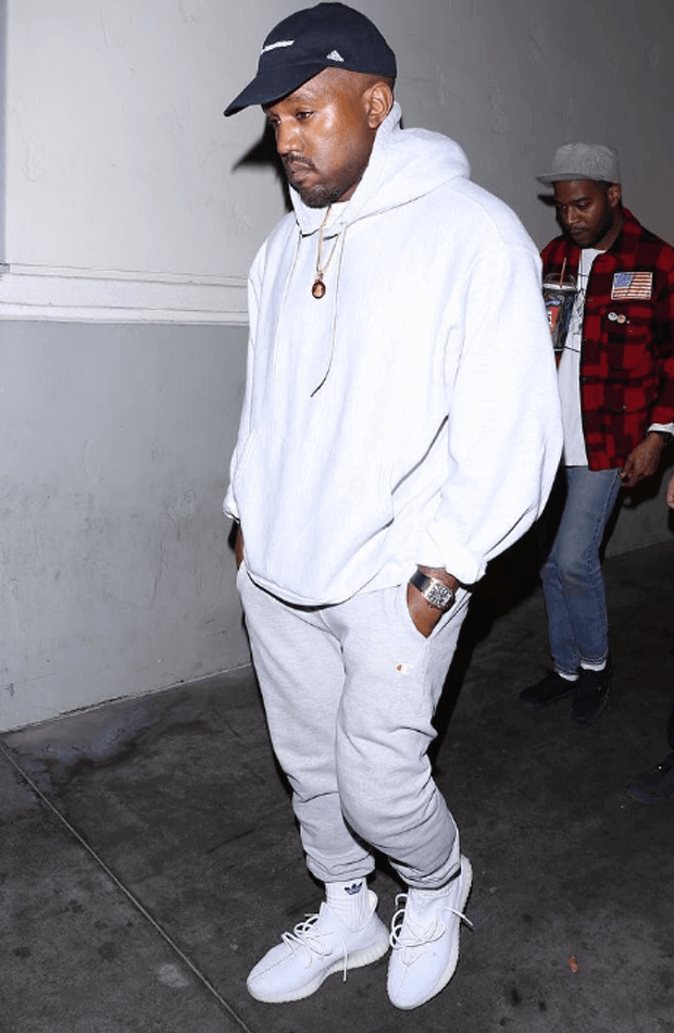 """Kanye West in the adidas Yeezy Boost 350 """"White"""""""