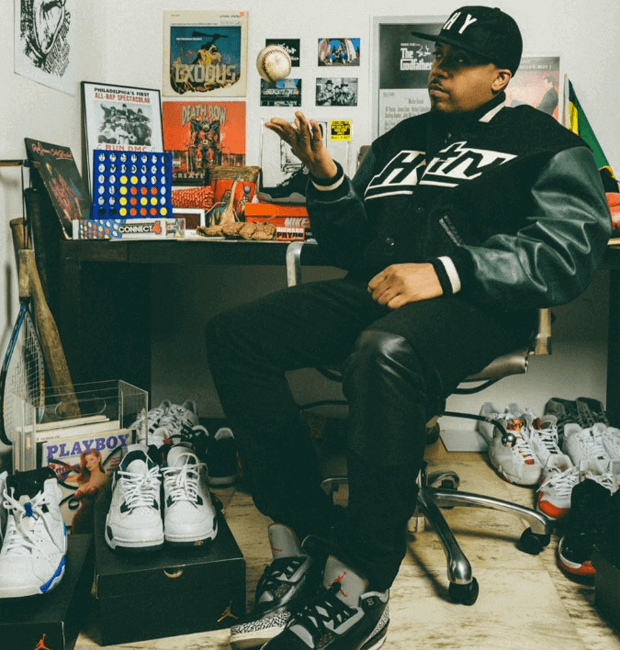 Nas in the Air Jordan 3 Black/Cement