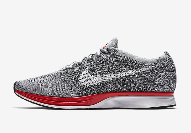 Nike Flyknit Racer Red/Wolf Grey